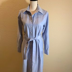 Brooks Brothers Blue Shirt Dress Size 12